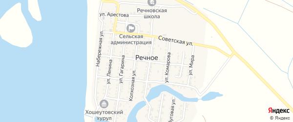 Школьная улица на карте Речного села с номерами домов