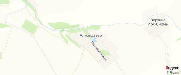 Карта деревни Алмандаево в Чувашии с улицами и номерами домов