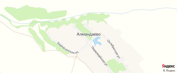 Октябрьская улица на карте деревни Алмандаево с номерами домов