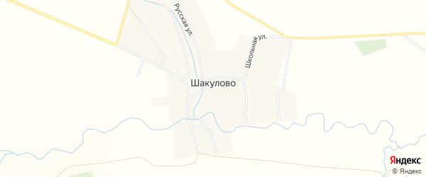 Сад Строитель-3 на карте села Шакулово с номерами домов
