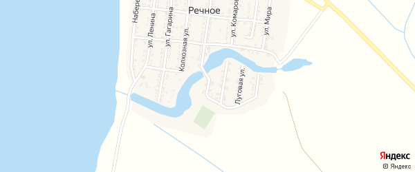 Заречная улица на карте Речного села с номерами домов