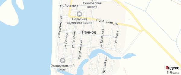 Улица Терешковой на карте Речного села с номерами домов