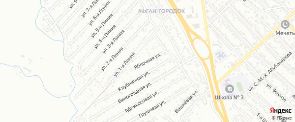 Яблочная улица на карте Коммунальника СНТ с номерами домов