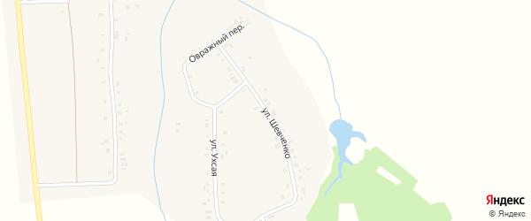 Улица Шевченко на карте деревни Мунсюта с номерами домов