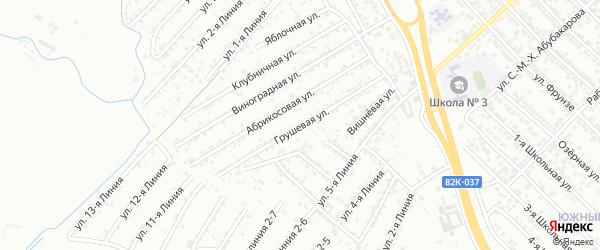 Грушевая улица на карте Строителя СНТ с номерами домов