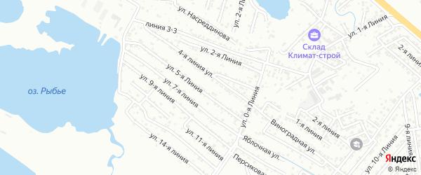 15-я линия на карте Зари 2 СНТ с номерами домов