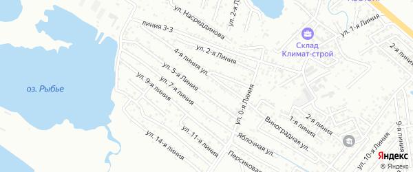 Персиковая улица на карте Зари 2 СНТ с номерами домов