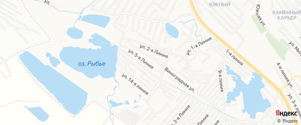 Заря 2 СНТ на карте Каспийска с номерами домов