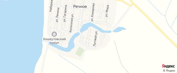 Комсомольская улица на карте Речного села с номерами домов