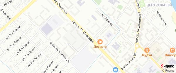 Проспект М.Омарова на карте Каспийска с номерами домов