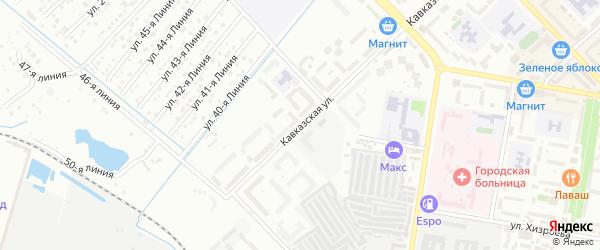 Кавказская улица на карте Каспийска с номерами домов