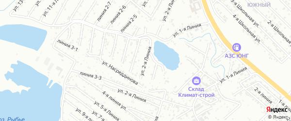 2-я линия на карте Зари 2 СНТ с номерами домов