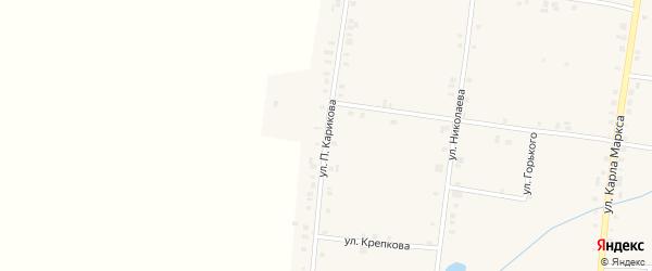Улица П.Карикова на карте села Сугуты с номерами домов