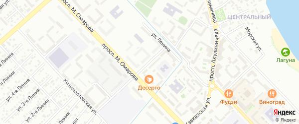 Дербентская улица на карте Каспийска с номерами домов