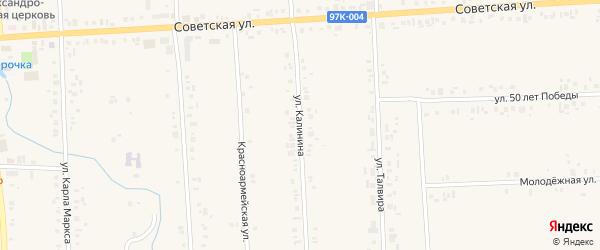 Улица Калинина на карте села Батырево с номерами домов