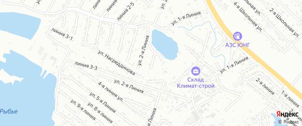 1-я линия на карте Зари 2 СНТ с номерами домов