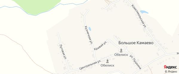 Кузнечная улица на карте деревни Большое Камаево с номерами домов