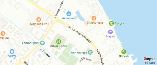 Проспект Акулиничева на карте Каспийска с номерами домов