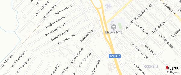 Вишневая улица на карте Дружбы СНТ с номерами домов