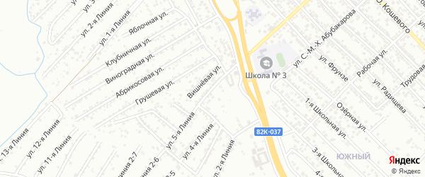 Вишневая улица на карте Авангарда СНТ с номерами домов