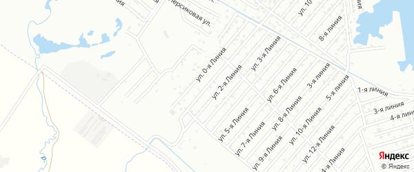 1-я линия на карте Дагестана СНТ с номерами домов