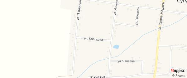 Улица Крепкова на карте села Сугуты с номерами домов