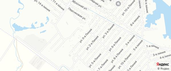 0-я линия на карте гаражно-строительного кооператива Космоса ПГСК с номерами домов