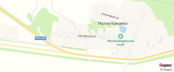 Заозерная улица на карте деревни Малое Камаево с номерами домов