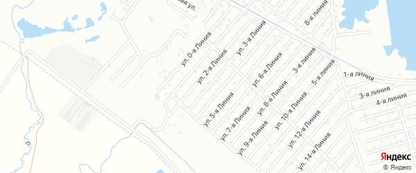Улица 3-я линия на карте села Какашуры с номерами домов