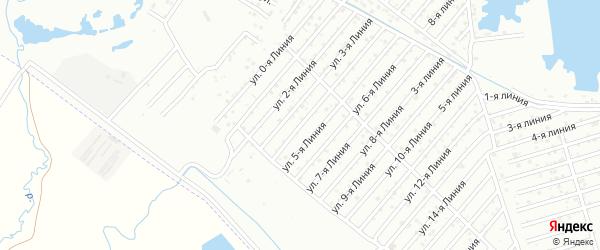 Улица 4-я линия на карте села Какашуры с номерами домов