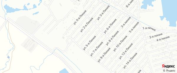 4-я линия на карте Дагестана СНТ с номерами домов