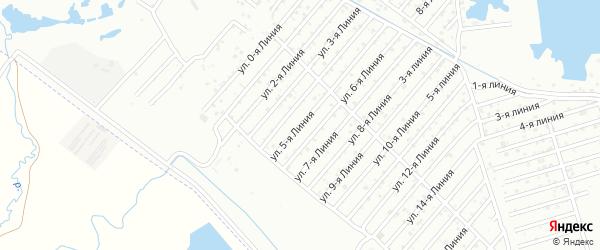 Улица 5-я линия на карте села Какашуры с номерами домов