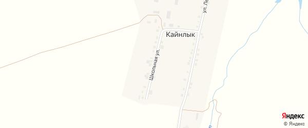 Школьная улица на карте деревни Кайнлыка с номерами домов