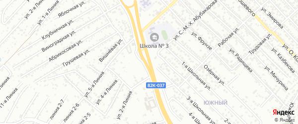 Улица Амет-хан Султана на карте Каспийска с номерами домов