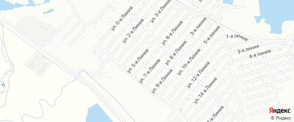 Улица Линия 1 на карте микрорайона Камнеобрабат-щий з-д и Очистные сооруж-я с номерами домов