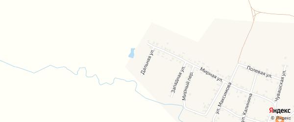 Дальная улица на карте села Яншихова-Норвашей с номерами домов
