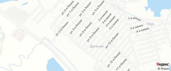 7-я линия на карте района Озера Турали и Аэропортовское шоссе с номерами домов