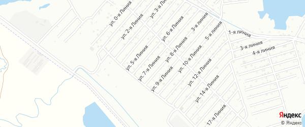 Линия 7А на карте района Озера Турали и Аэропортовское шоссе с номерами домов