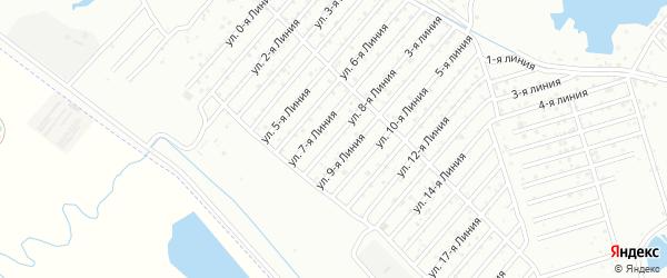 Улица 8-я линия на карте села Какашуры с номерами домов