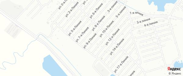 Улица 9-я линия на карте села Какашуры с номерами домов