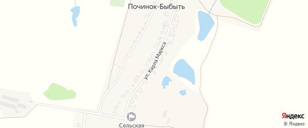 Улица К.Маркса на карте деревни Починка-Быбыти с номерами домов