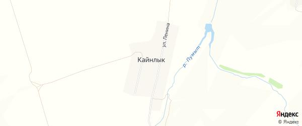 Карта деревни Кайнлыка в Чувашии с улицами и номерами домов