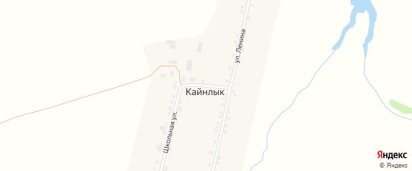 Центральный переулок на карте деревни Кайнлыка с номерами домов