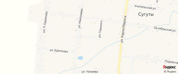 Улица Горького на карте села Сугуты с номерами домов