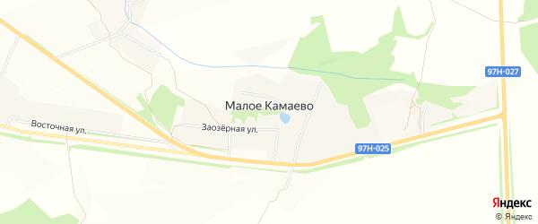 Карта деревни Малое Камаево в Чувашии с улицами и номерами домов