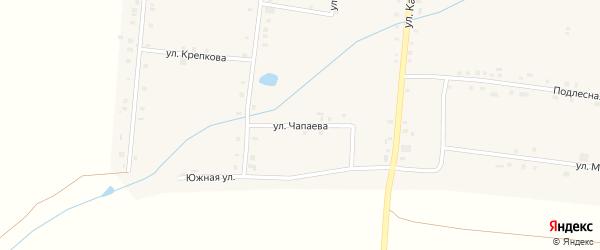 Улица Чапаева на карте села Сугуты с номерами домов