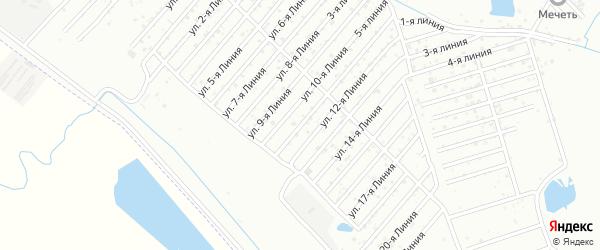11-я линия на карте Дагестана СНТ с номерами домов