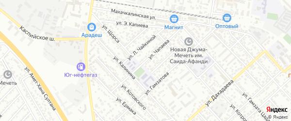 Улица Чапаева на карте Каспийска с номерами домов