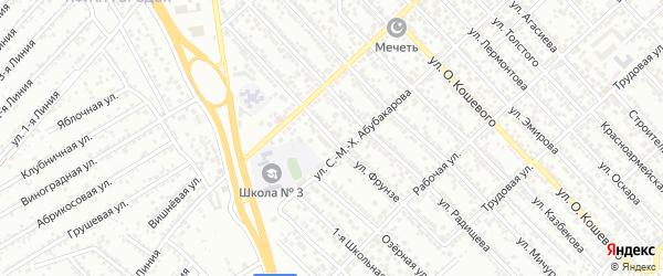 Улица Фрунзе на карте Каспийска с номерами домов