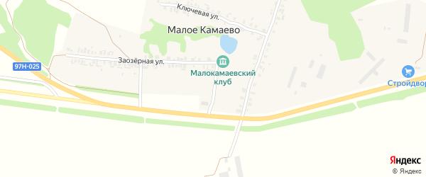 Шоссейная улица на карте деревни Малое Камаево с номерами домов